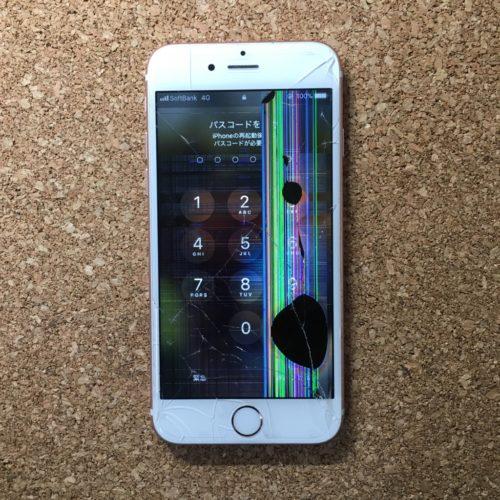 iPhoneの液晶が漏れている状態